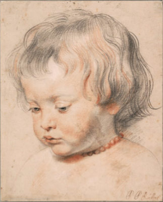 Nicolaas Rubens Wearing a Coral Neckless, c. 1619 by PETER PAUL RUBENSC.   © Albertina, Vienna