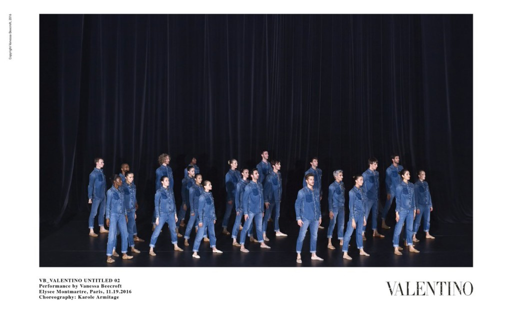 VB_VALENTINO UNTITLED 02 — Performance by Vanessa Beecroft — Elysee Montmartre, Paris, 11.09.2016 — Choreography: Karole Armitage   ©Valentino