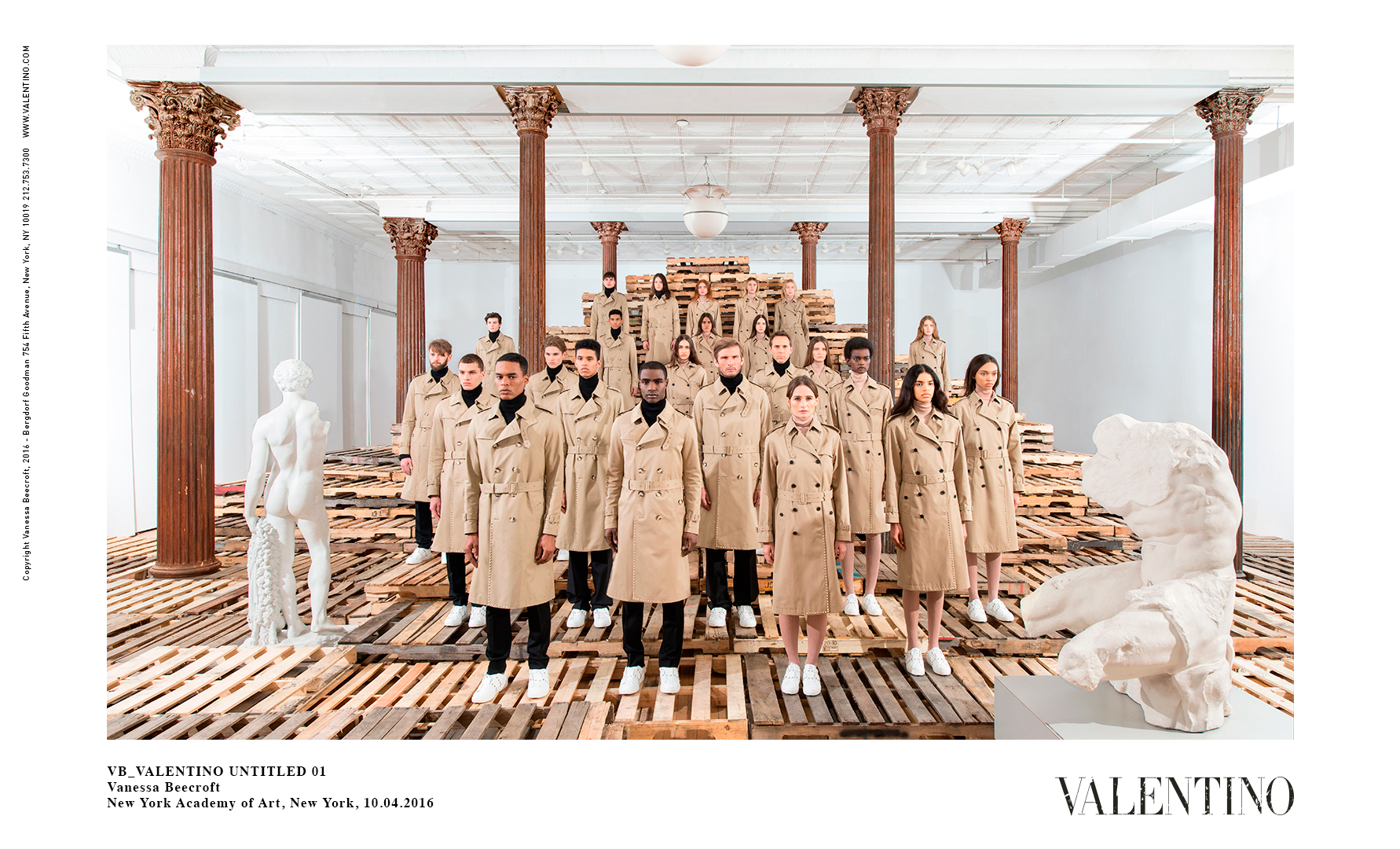 VB_VALENTINO UNTITLED 01 — Vanessa Beecroft — New York Academy of Art, New York, 10.04.2016   ©Valentino