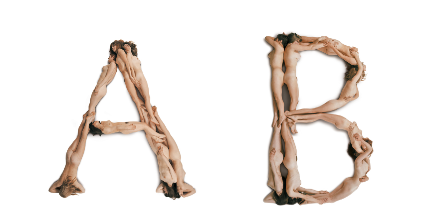 "©Anton Beeke, ""Naked Ladies Alphabet"" (Body Type"