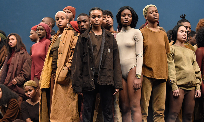 Kanye West Yeezy Season 3    Performance by: Vanessa Beecroft   Photo: Kevin Mazur/Getty Images