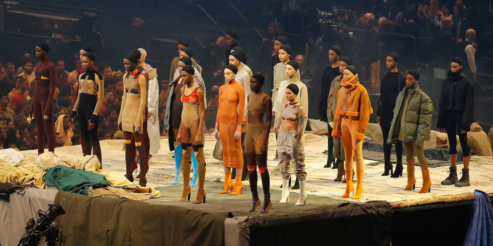 Kanye West Yeezy Season 3 — Performance by Vanessa Beecroft   Photo: Getty Images