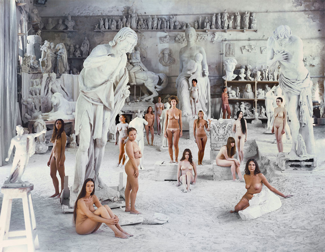 "Biennale Internazionale di Scultura di Carrara,  ""VB Marmi "" —  VB67 by VANESSA BEECROFT, 2010   Photo by Rainhard Kohl  © Lia Rumma & Vanessa Beecroft"