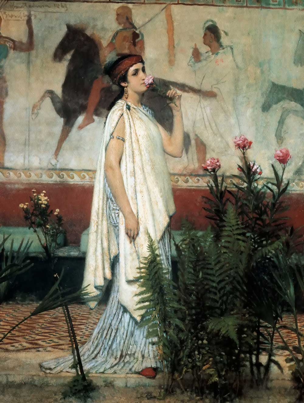 SIR LAWRENCE ALMA TADEMA — A Greek Woman, 1869.