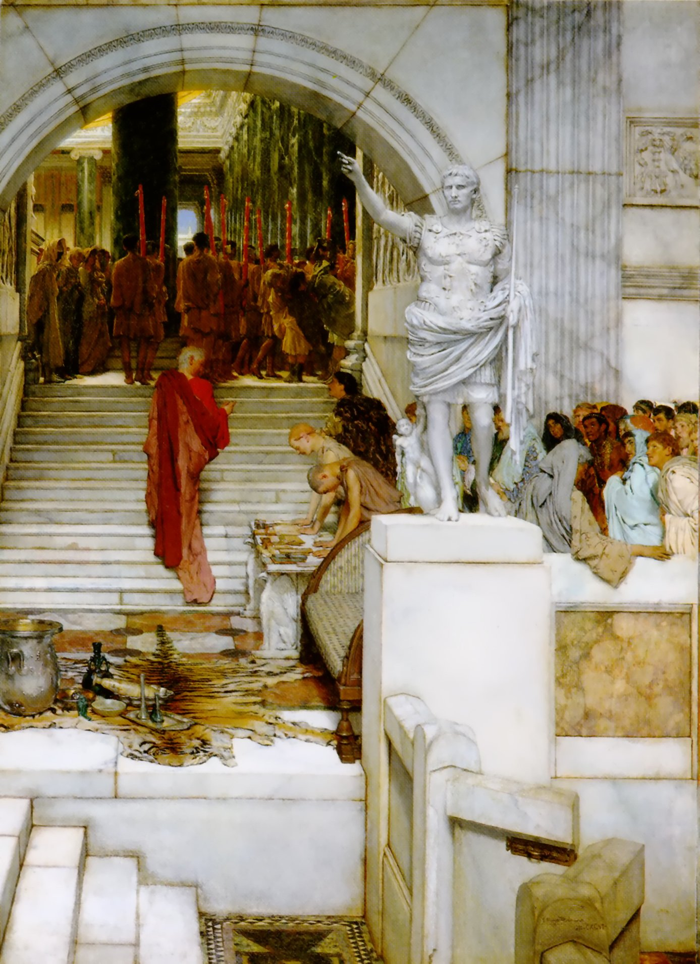 SIR LAWRENCE ALMA TADEMA — After the Audience, 1879.
