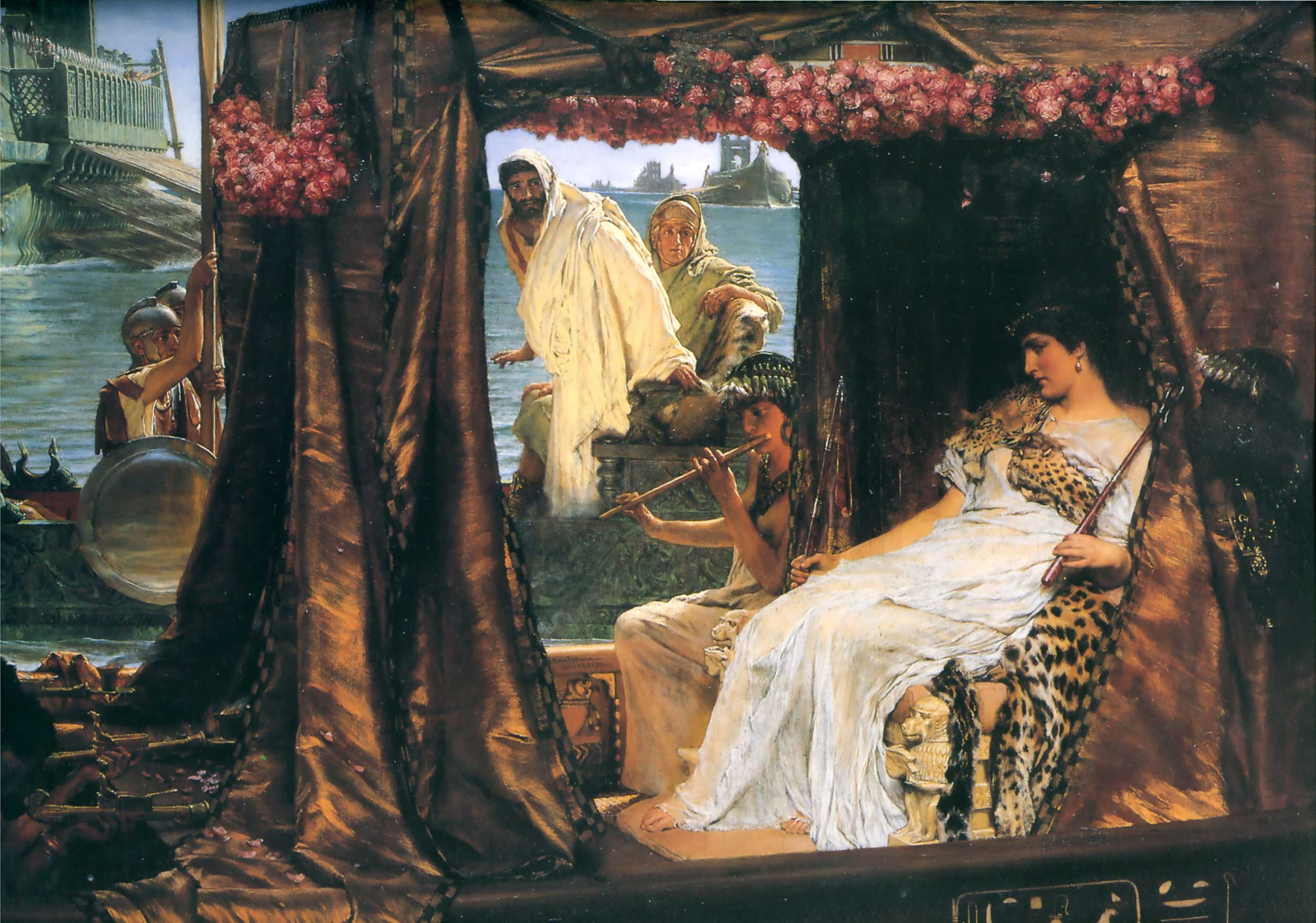 SIR LAWRENCE ALMA TADEMA — Anthony and Cleopatra, 1883.