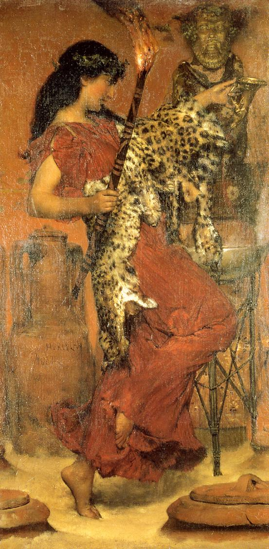 SIR LAWRENCE ALMA TADEMA — Autumn Vintage Festival, 1877.