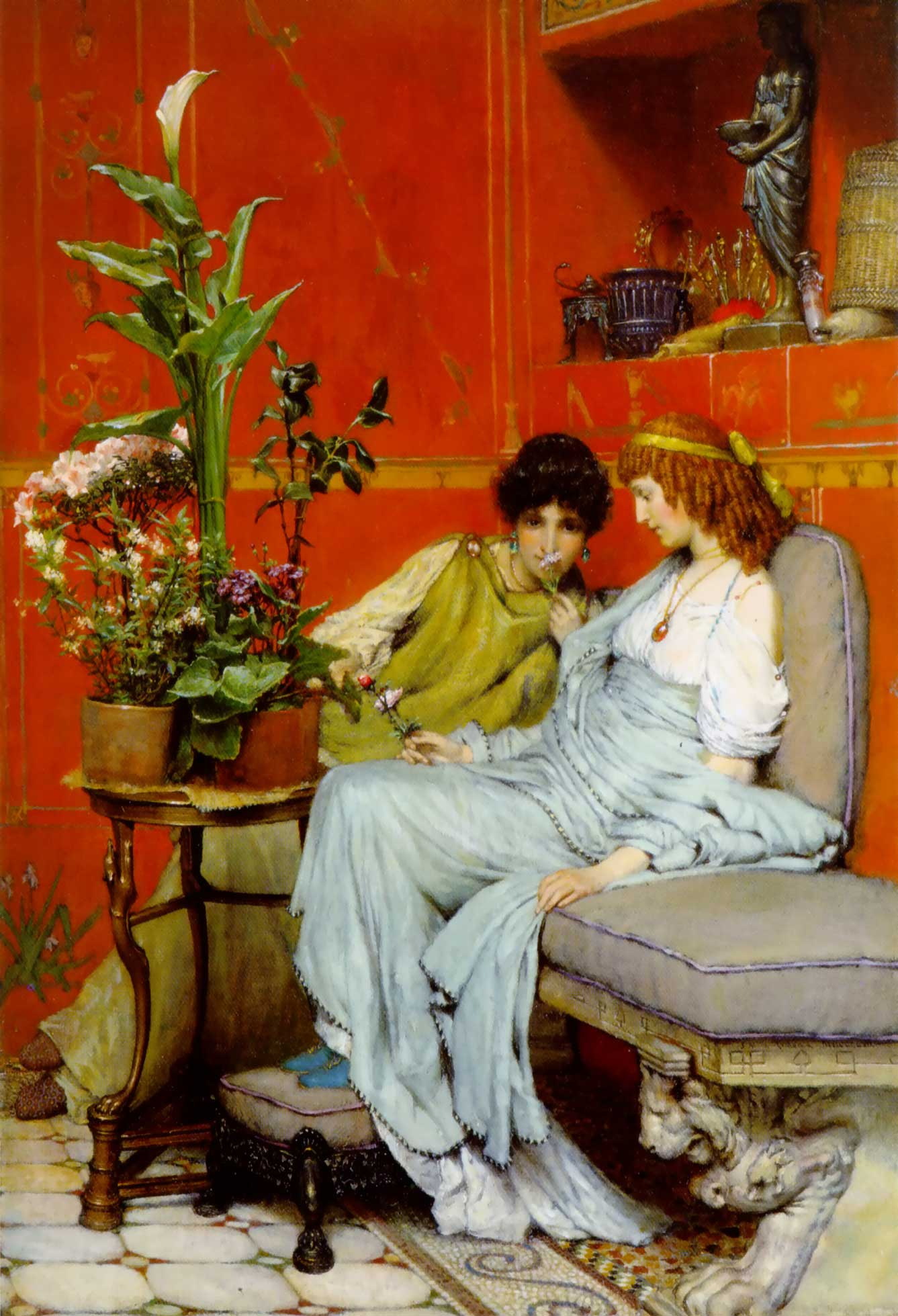 SIR LAWRENCE ALMA TADEMA — Confidences, 1869.
