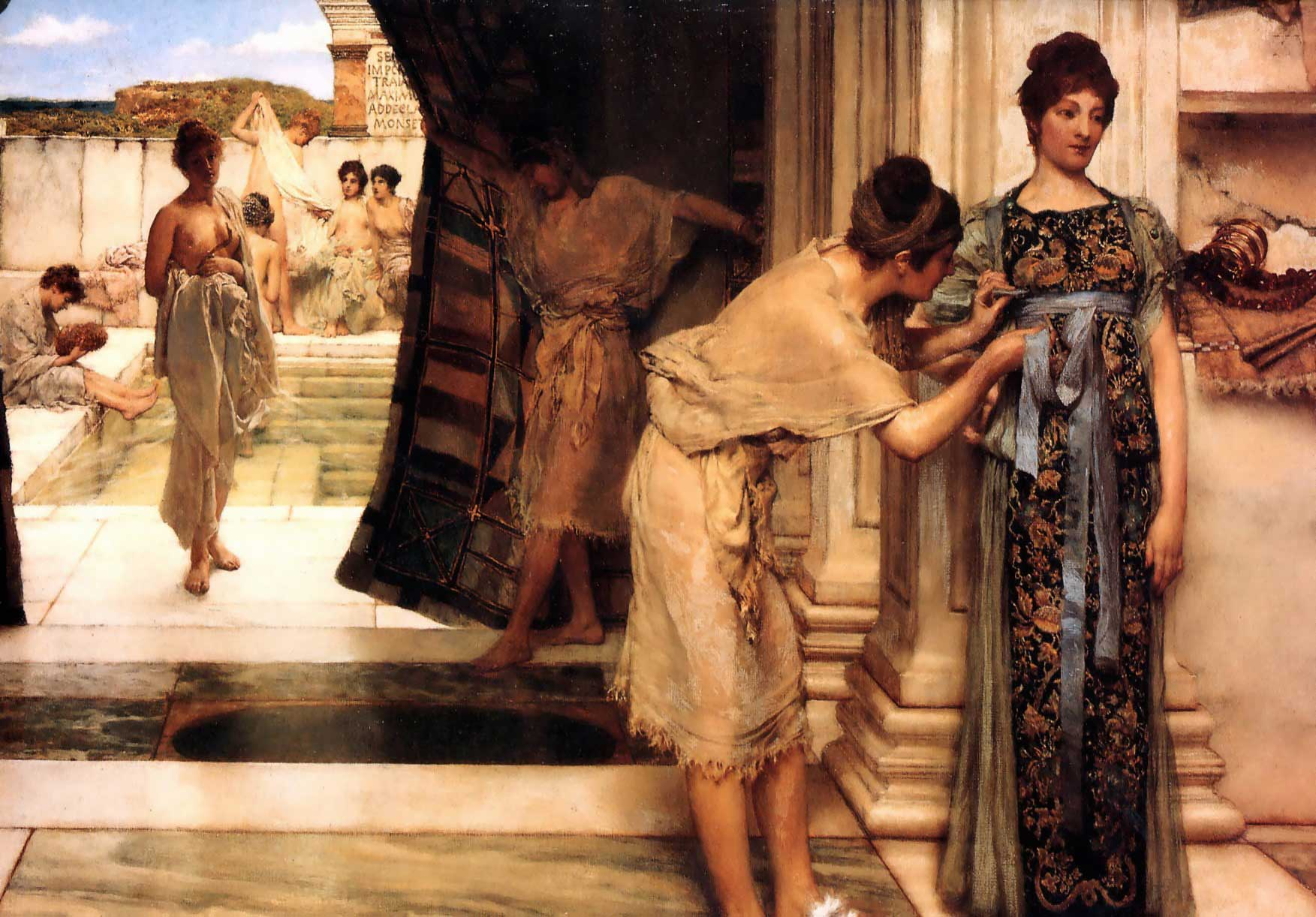 SIR LAWRENCE ALMA TADEMA — The Frigidarium, 1890.