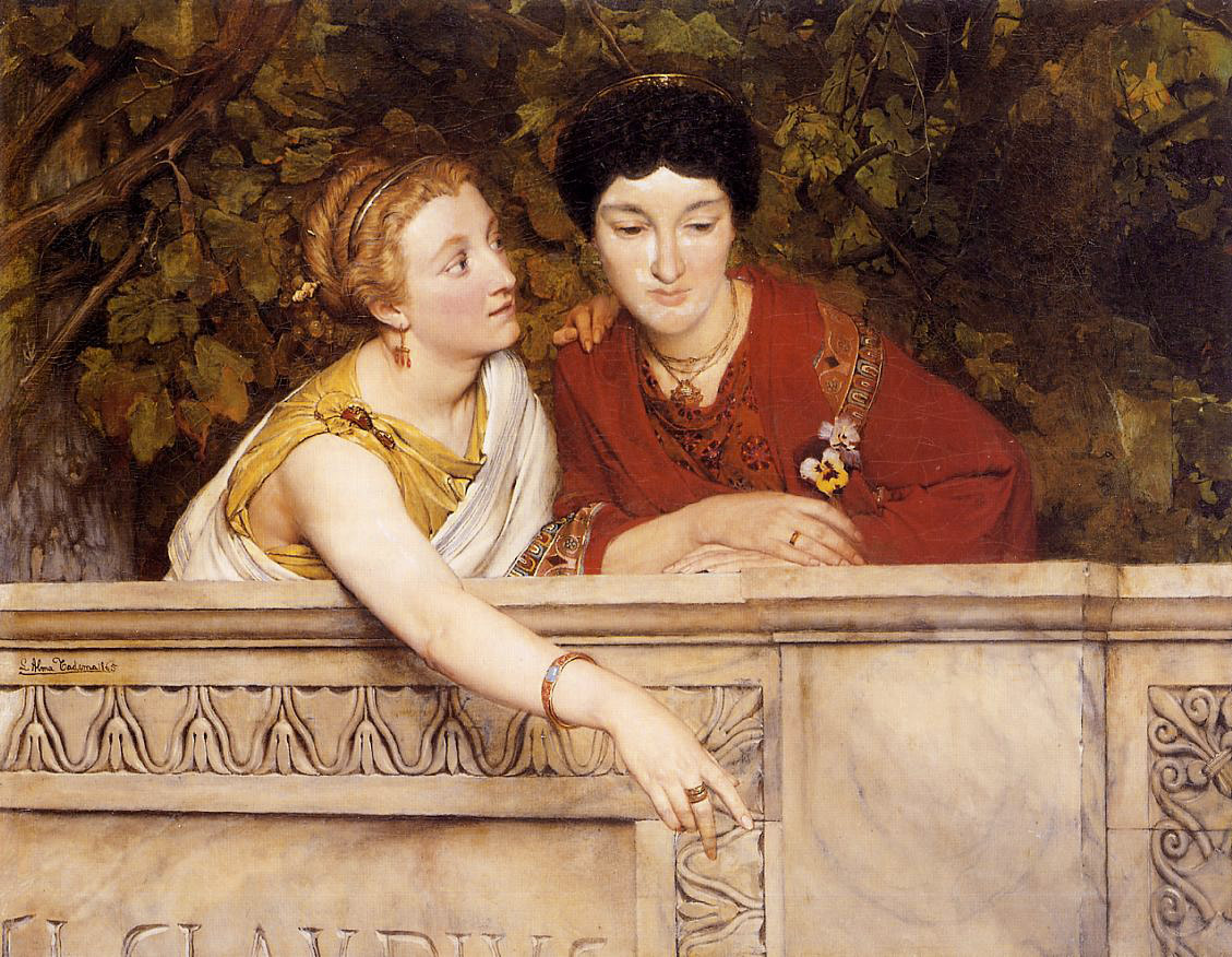 SIR LAWRENCE ALMA TADEMA — From an Absent One, 1871.