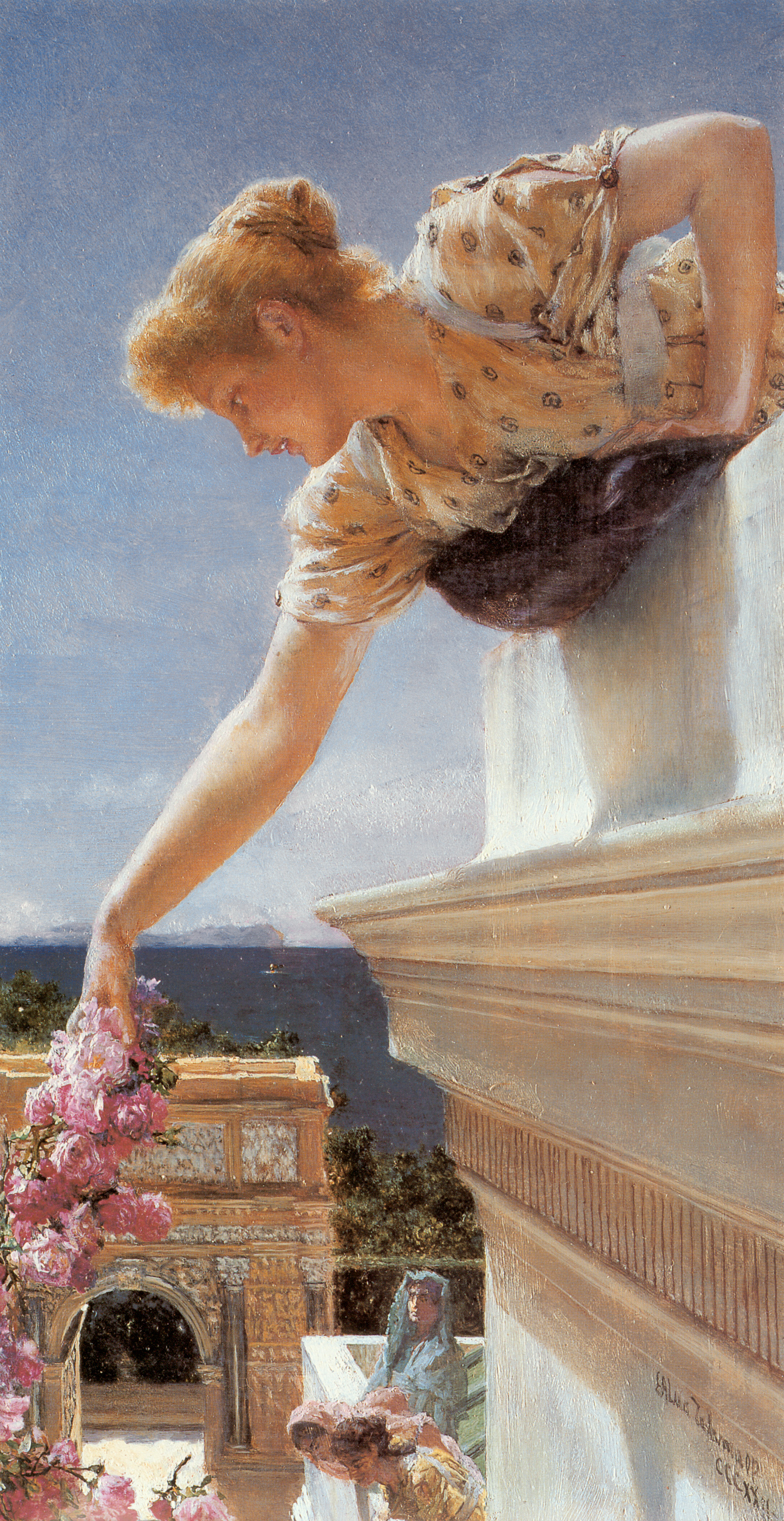 SIR LAWRENCE ALMA TADEMA — God Speed, 1893.