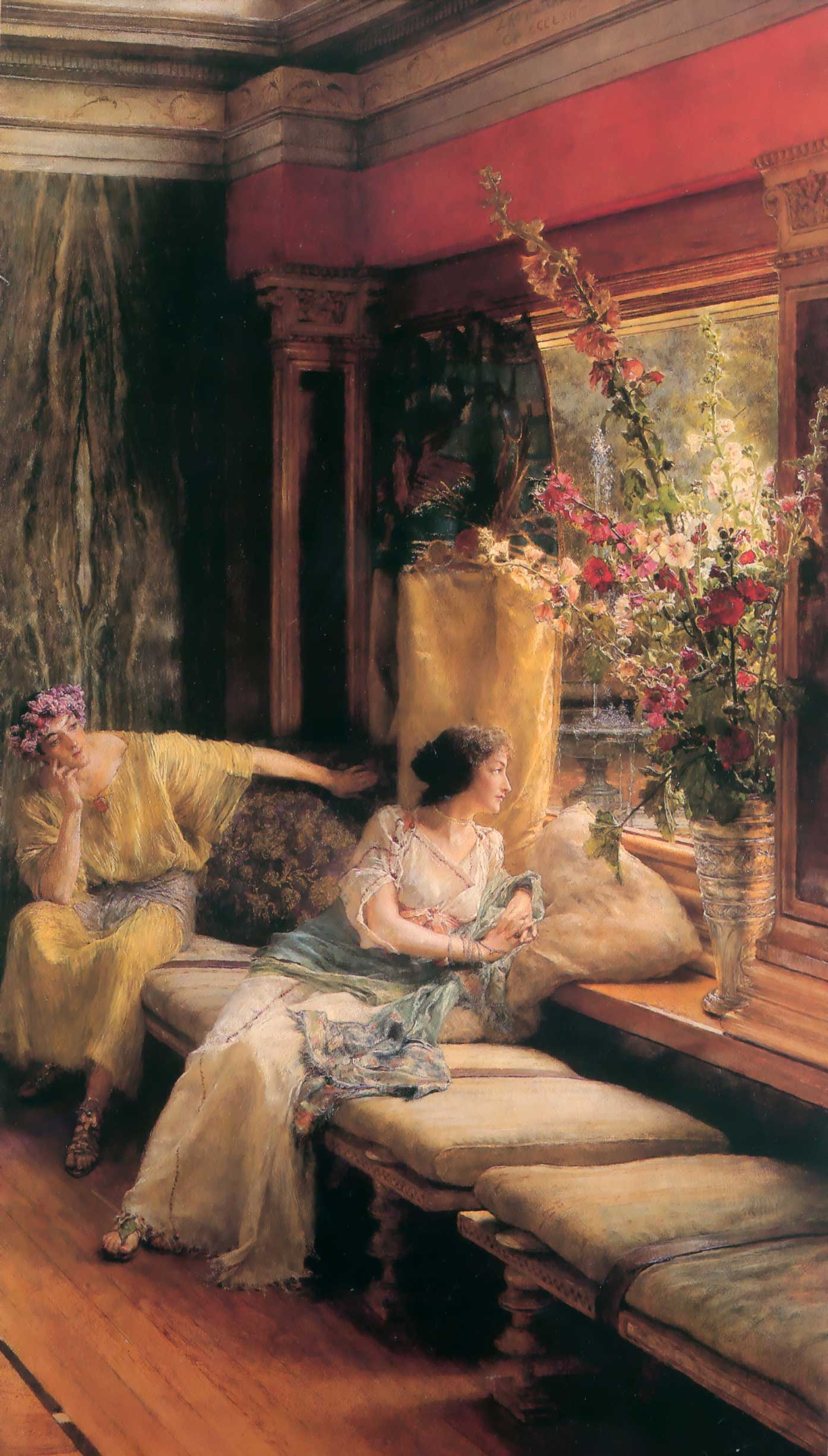 SIR LAWRENCE ALMA TADEMA — Vain Courtship, 1900.