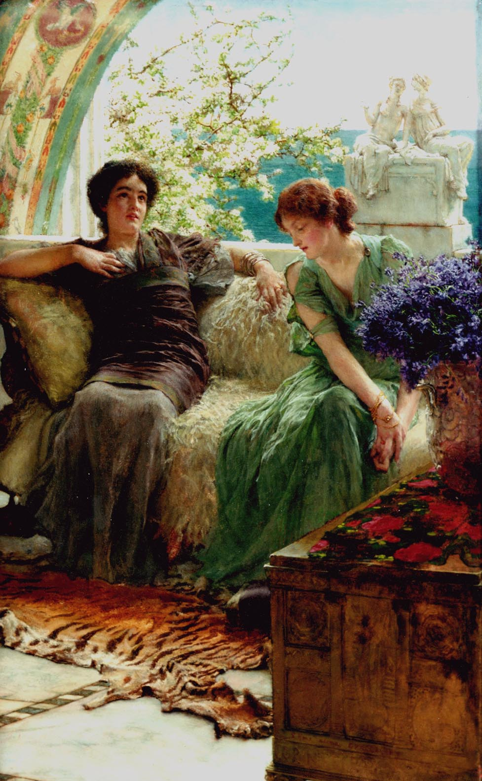 SIR LAWRENCE ALMA TADEMA — Unwelcome Confidences, 1902.