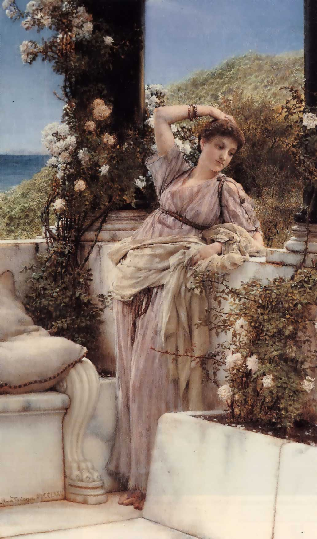 SIR LAWRENCE ALMA TADEMA — Thou Rose of All the Roses.