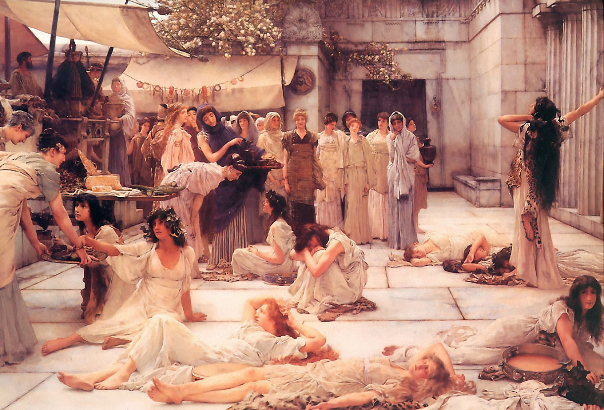 SIR LAWRENCE ALMA TADEMA — The Women of Amphissa, 1887.