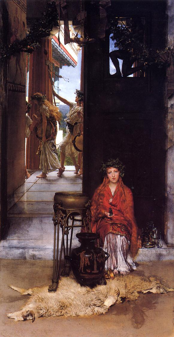 SIR LAWRENCE ALMA TADEMA — The Way to the Temple, 1882.