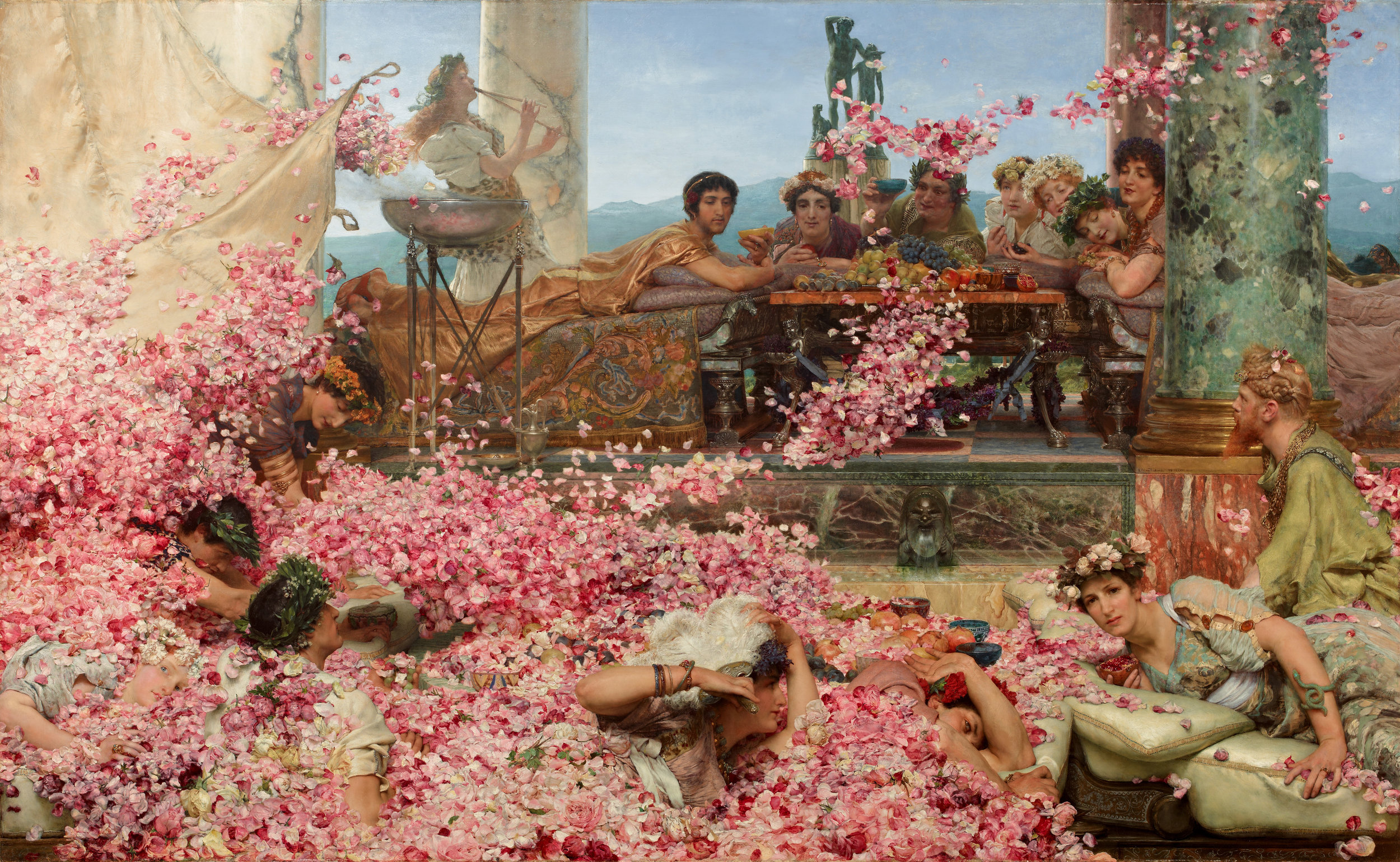 SIR LAWRENCE ALMA TADEMA — The Roses of Heliogabalus, 1888.
