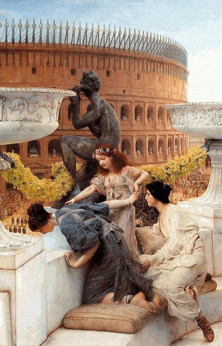SIR LAWRENCE ALMA TADEMA — The Colosseum, 1896.