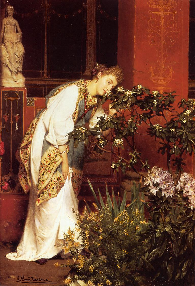 SIR LAWRENCE ALMA TADEMA — In the Peristyle, 1866.