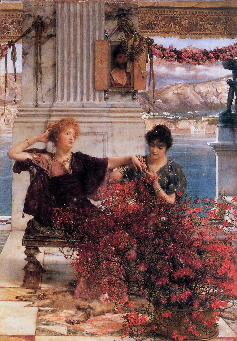 SIR LAWRENCE ALMA TADEMA — Loves Jewelled Fetter, 1895.