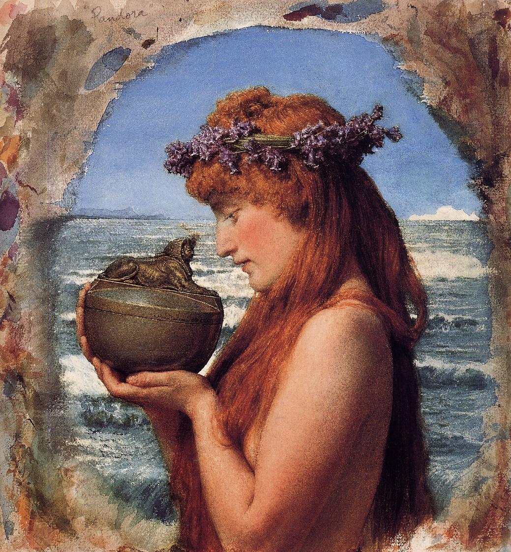 SIR LAWRENCE ALMA TADEMA — Pandora, 1881.