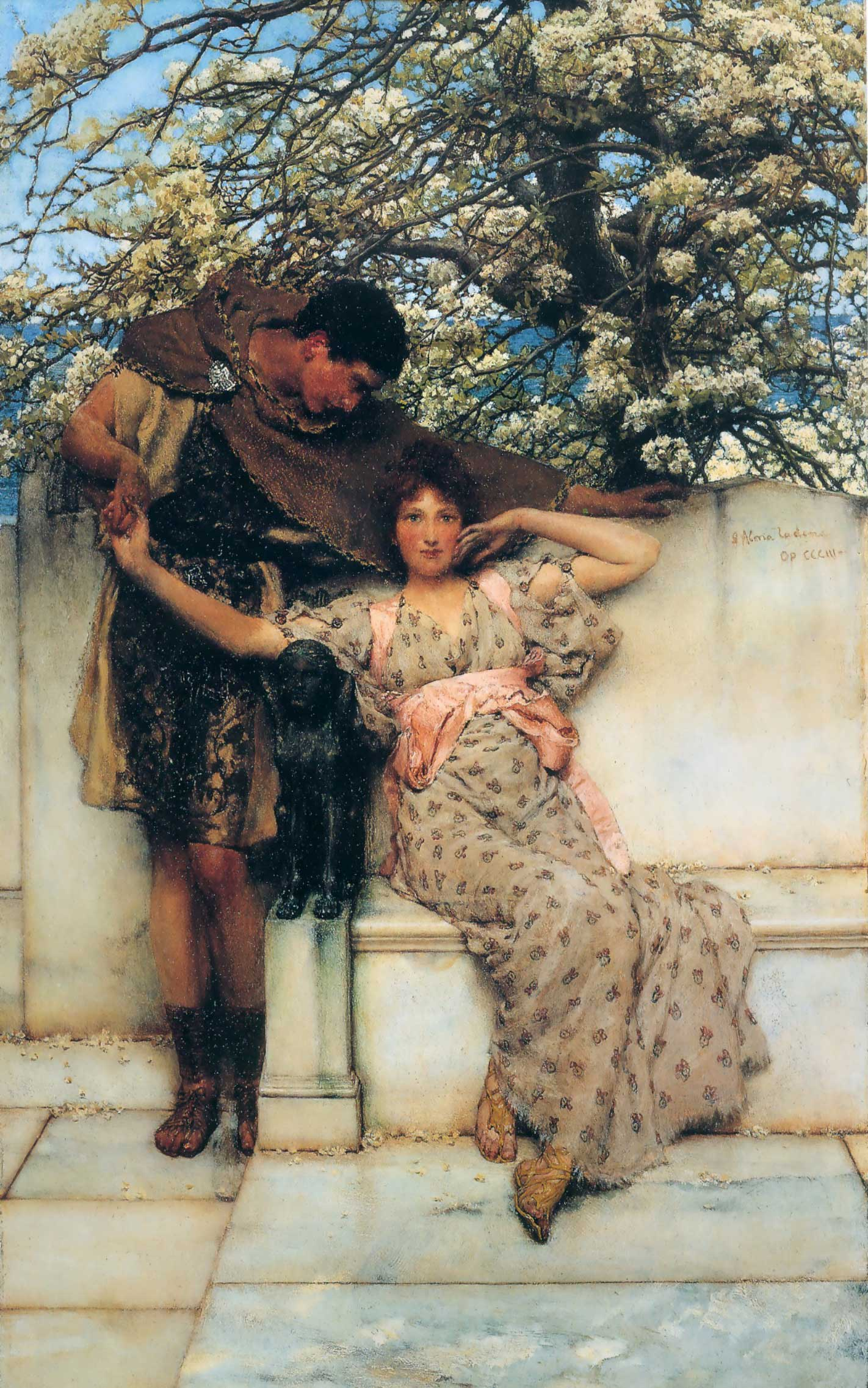 SIR LAWRENCE ALMA TADEMA —Promise of Spring.