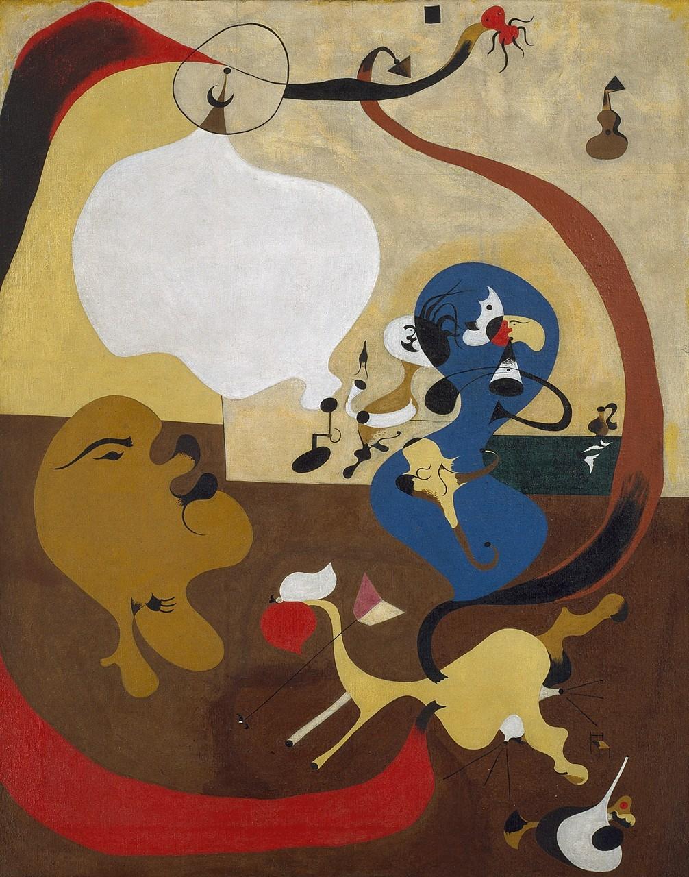 JOAN MIRÓ - Dutch Interior II   The Solomon R. Guggenheim Foundation Peggy Guggenheim Collection, Venice, 1976  © 2018 Successió Miró/Artists Rights Society (ARS), New York/ADAGP, Paris