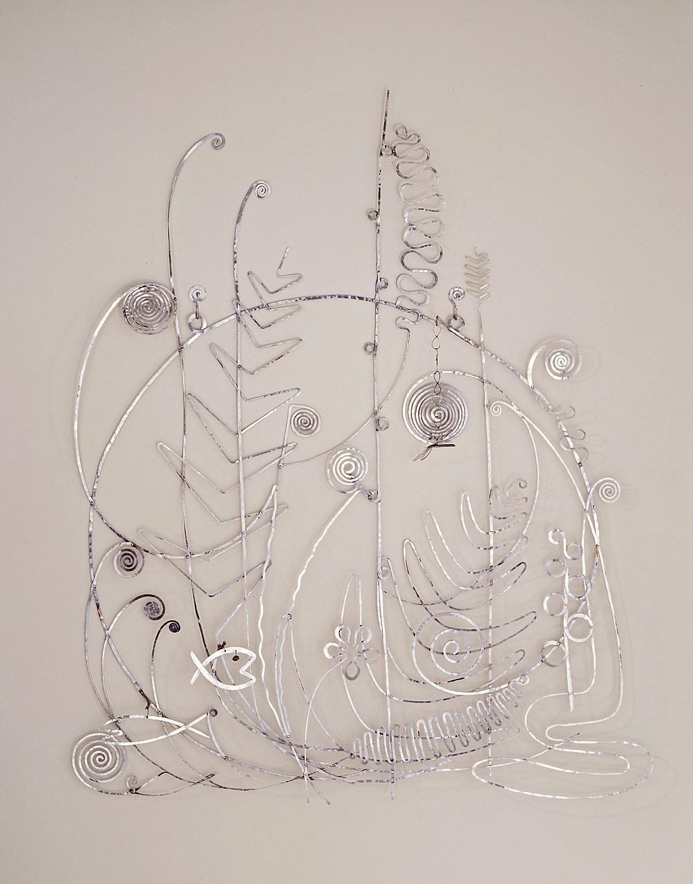 ALEXANDER CALDER, ' The Silver Bedhead'  The Solomon R. Guggenheim Foundation Peggy Guggenheim Collection, Venice, 1976  © 2018 Calder Foundation, New York/Artists Rights Society (ARS), New York