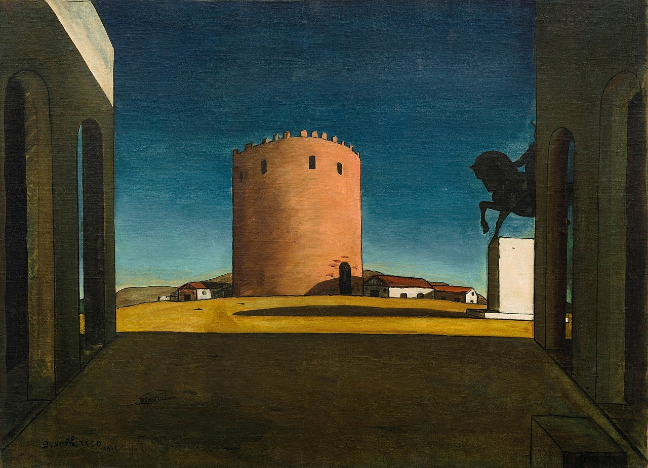GIORGIO DE CHIRICO - The Red Tower   The Solomon R. Guggenheim Foundation Peggy Guggenheim Collection, Venice, 1976  © 2018 Artists Rights Society (ARS), New York/SIAE, Rome