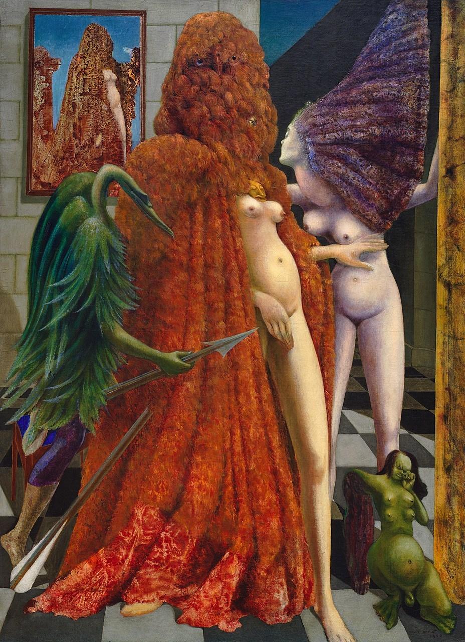 MAX ERNEST - Attirement of the Bride  (La Toilette de la Mariée)  The Solomon R. Guggenheim Foundation Peggy Guggenheim Collection, Venice, 1976  © 2018 Artists Rights Society (ARS), New York/ADAGP, Paris