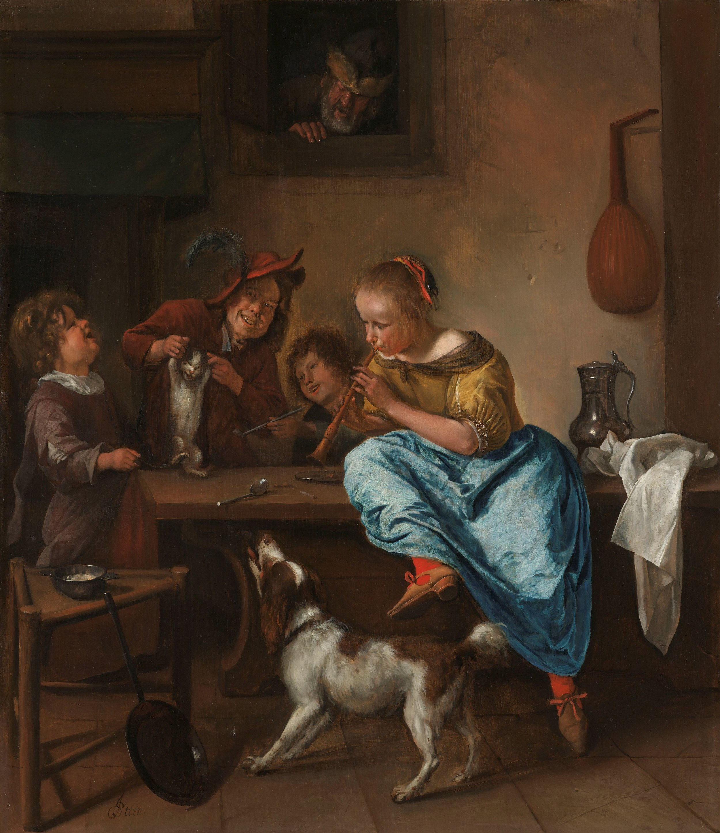 The Dancing Lesson by Jan Steen