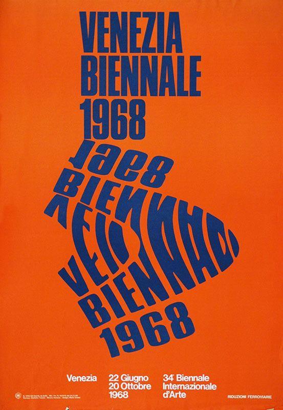 Archive poster for the Venice Biennale © Fondazione La Biennale di Venezia