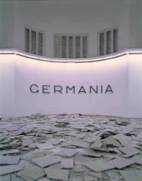 Hans Haacke,  Germania , German Pavilion, Venice Biennale, 1993,  © Hans Haacke/Artists Rights Society