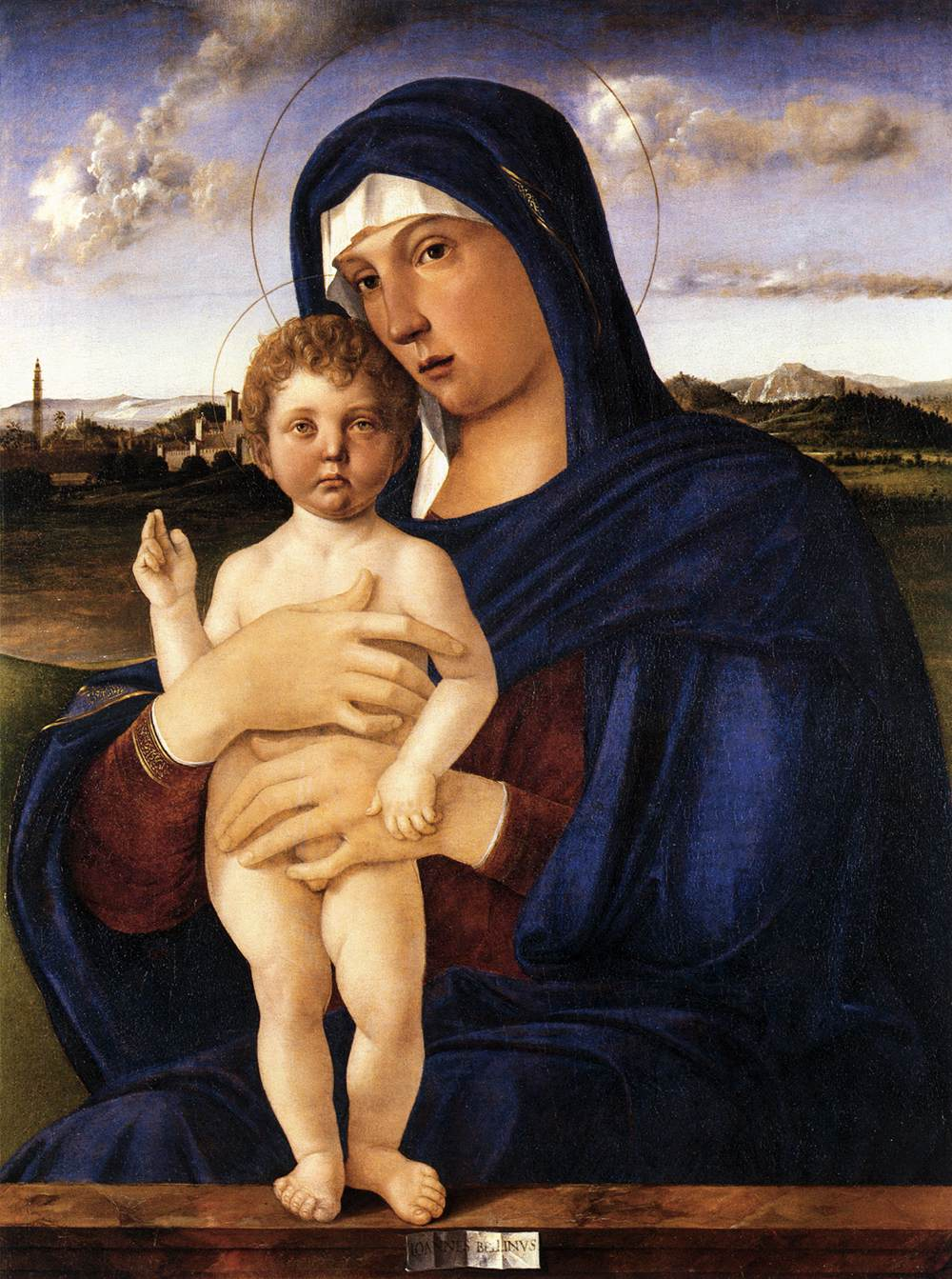 Madonna with Blessing Child by GIOVANNI BELLINI   Date   between 1475 and 1480  ,    Gallerie dell'Accademia    Collection