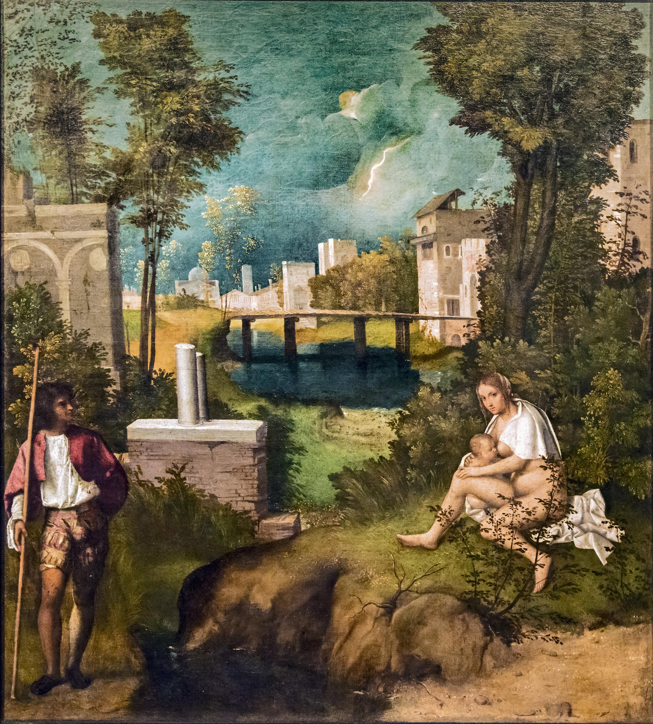 The Tempest by GIORGIONE  circa 1505   Gallerie dell'Accademia  Collection