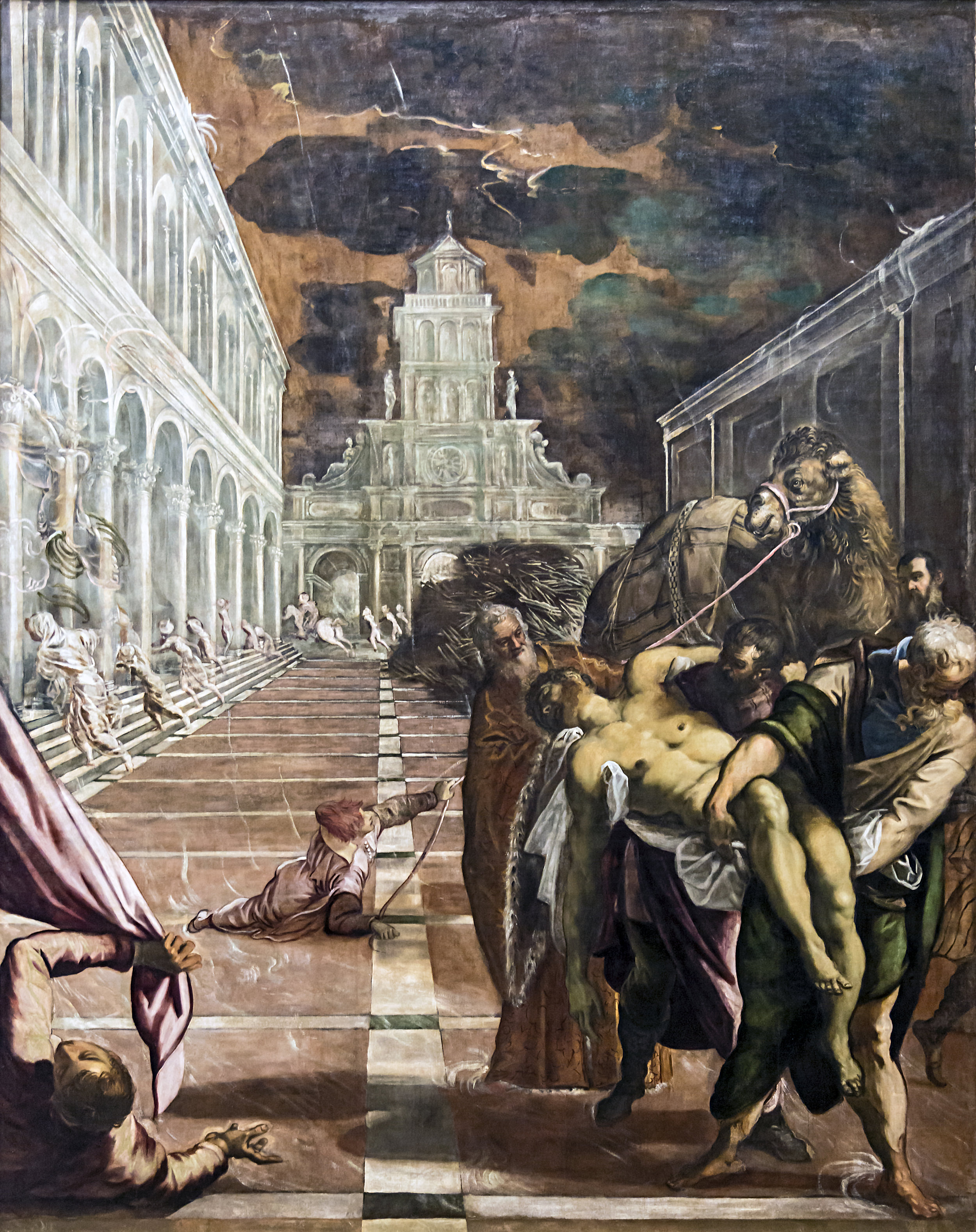 St Mark's Body Brought to Venice  by TINTERETTO    Date 1562 and 1566,  Gallerie dell'Accademia  Collection