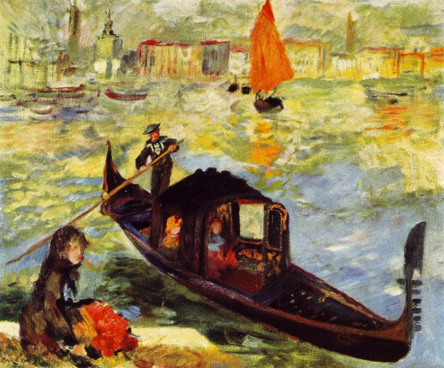 Gondola Venice, 1882 by Pierre-Auguste Renoir