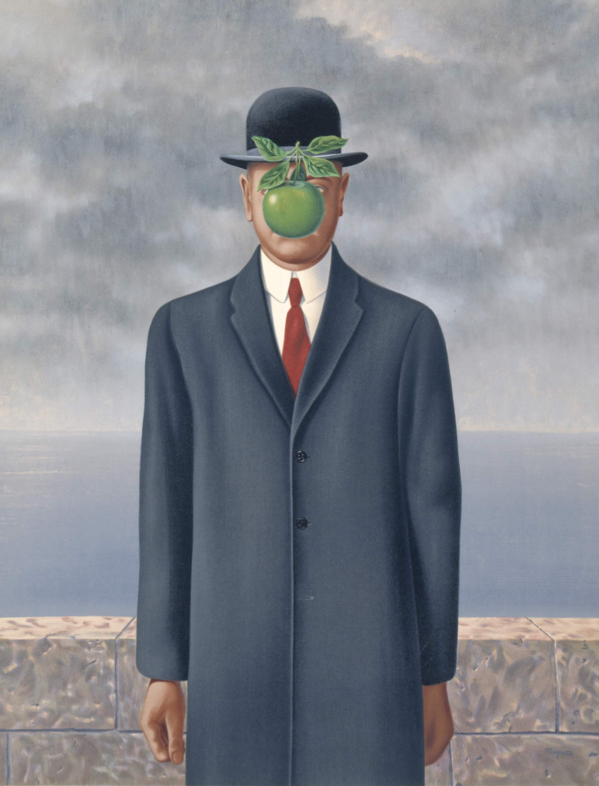 René Magritte,  Son of Man , 1964. © Charly Herscovici, Brussels / Artists Rights Society (ARS), New York. Courtesy of the San Francisco Museum of Modern Art.