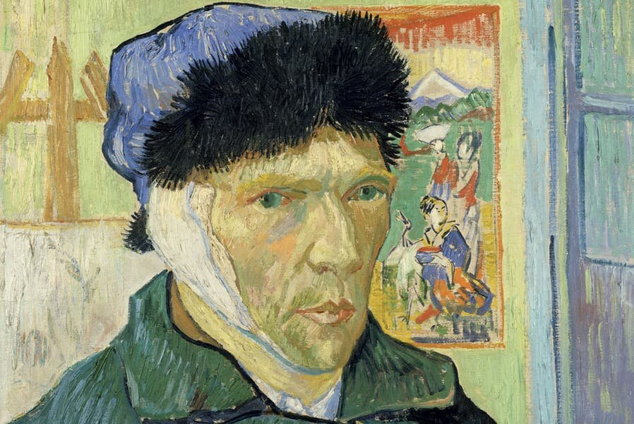 Self-Portrait with Bandaged Ear  (detail; 1889), Vincent van Gogh. Courtesy The Courtauld Gallery, London