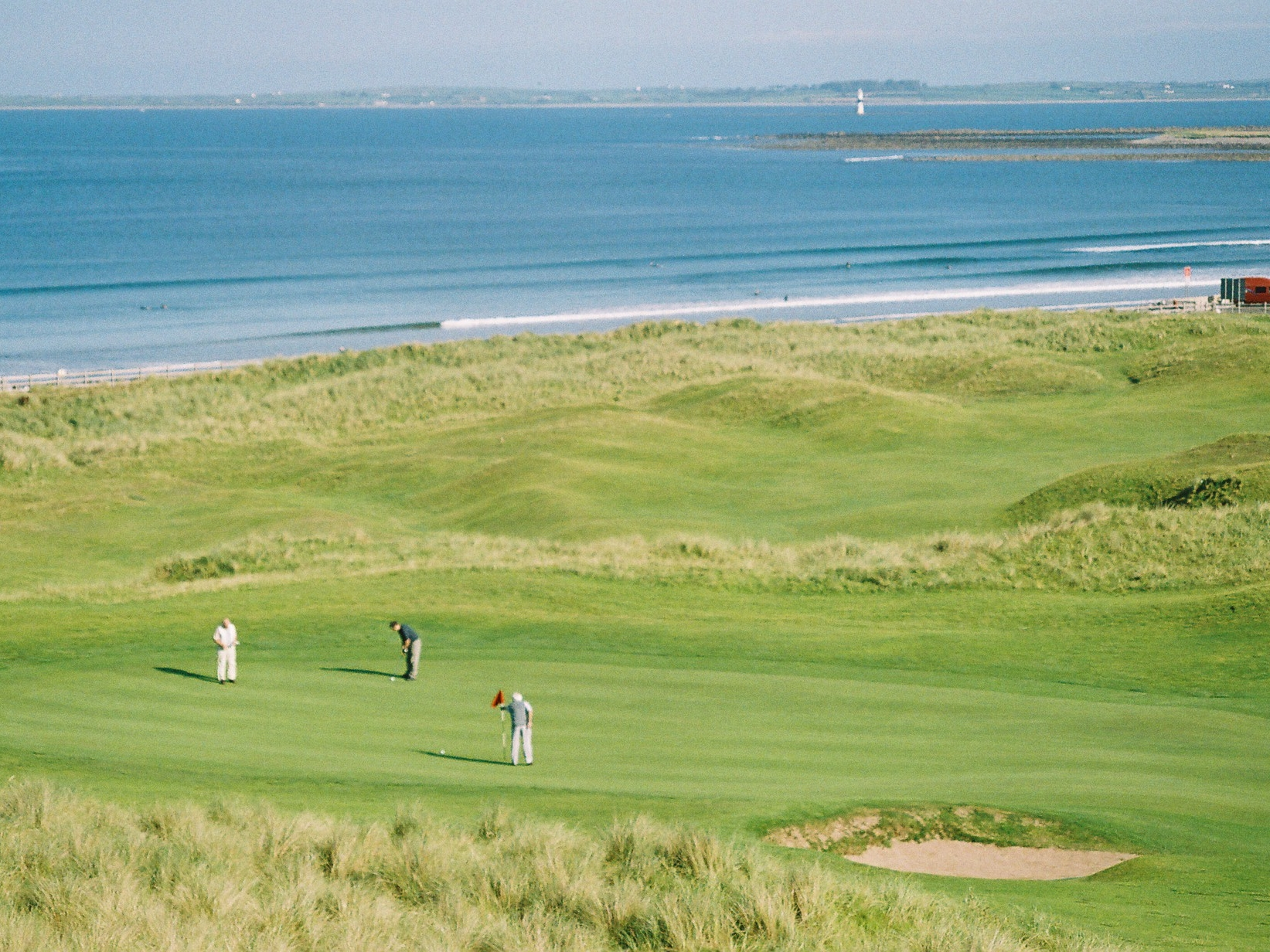 6th Green & Strandhill Beach.JPG