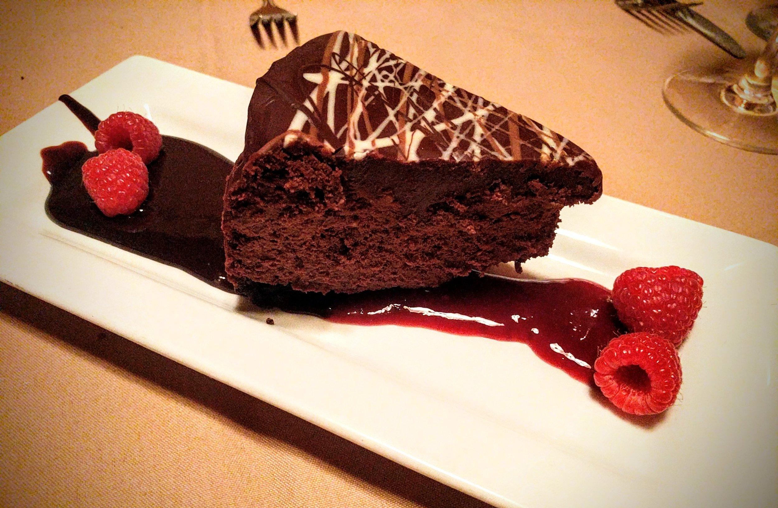 Delicious Triple Chocolate Cake from Silver Fox in Casper, WY.