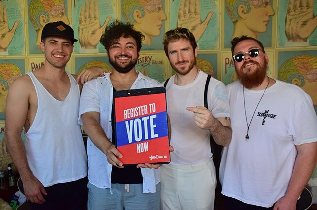 hello and happy tuesday.  today is National Voter Registration day. we believe the future is in our hands, and this is our path towards taking control of it. if you're not registered to vote, click on the link in our bio and @HeadCountOrg will get you sorted. we promise it's super easy. together, we can change the world for the better, but we have to take action. we hope you'll get involved. hearts, WTM.