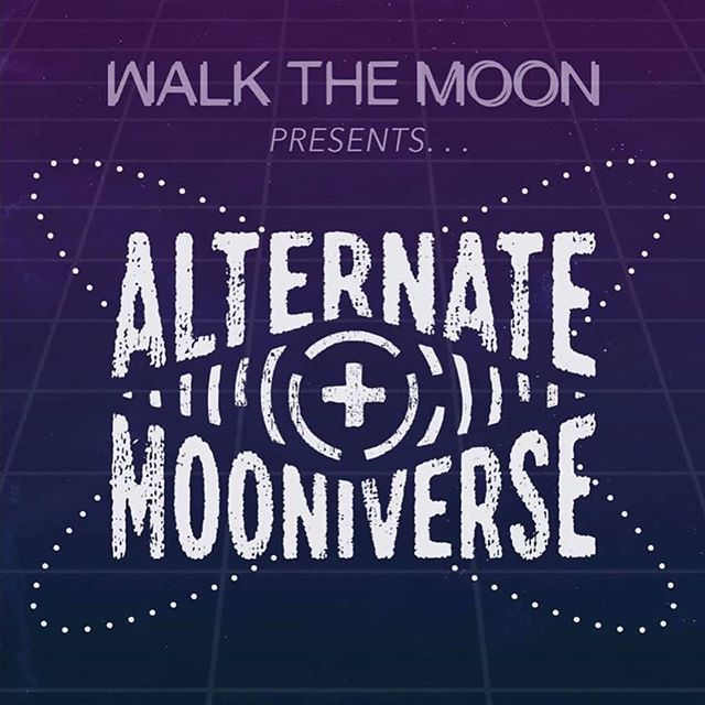 """OCTOBER FULL MOON 🌕🐺🌕 which means it's time for a new piece in the ALTERNATE MOONIVERSE collection - the line that wonders aloud - """"What if WALK THE MOON was something else???"""" This month, we're transporting you to the METAL MOONIVERSE for AM666. Limited Edition shirt and poster package from the FIRST and ONLY Metal Night at JENNY's in Woodsboro. Get yours now and have a b*tchin rawktober! 🤘🏽store.walkthemoon.com 🤘🏽"""