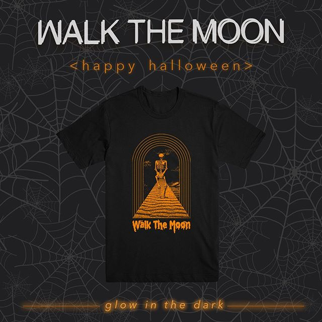 HALLOWEEN draws near.... and mysteriously this spooky 'One Foot' tee has appeared in our online store.turn out the lights + get your glow on… IF YOU DARE! MUAAAAAHHAHHAHAHAHAHA store.walkthemoon.com