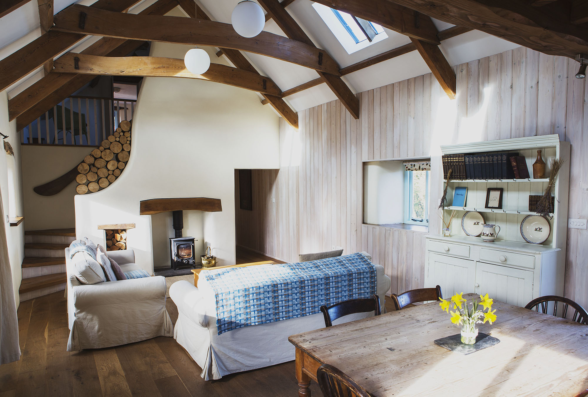 nantwen holiday cottage and runaway wedding venue interior photograph in pembrokeshire