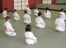 kneeling focused kids