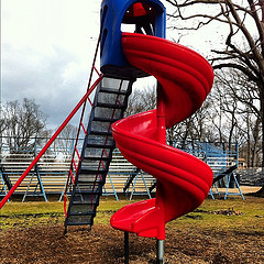 Curly Red Slide