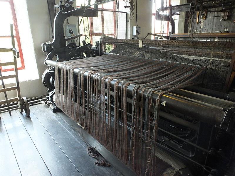 Early mechanical loom by UK-based Leeds Industrial.