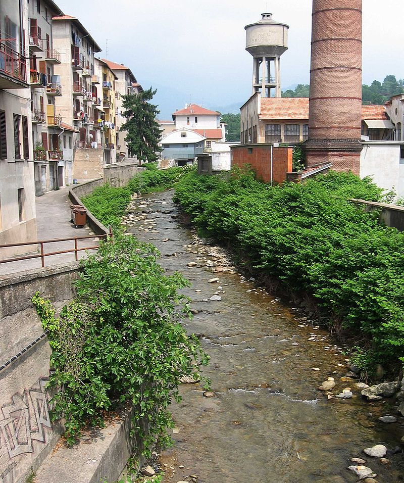 A Biellese river of the type used to power early industrial looms.