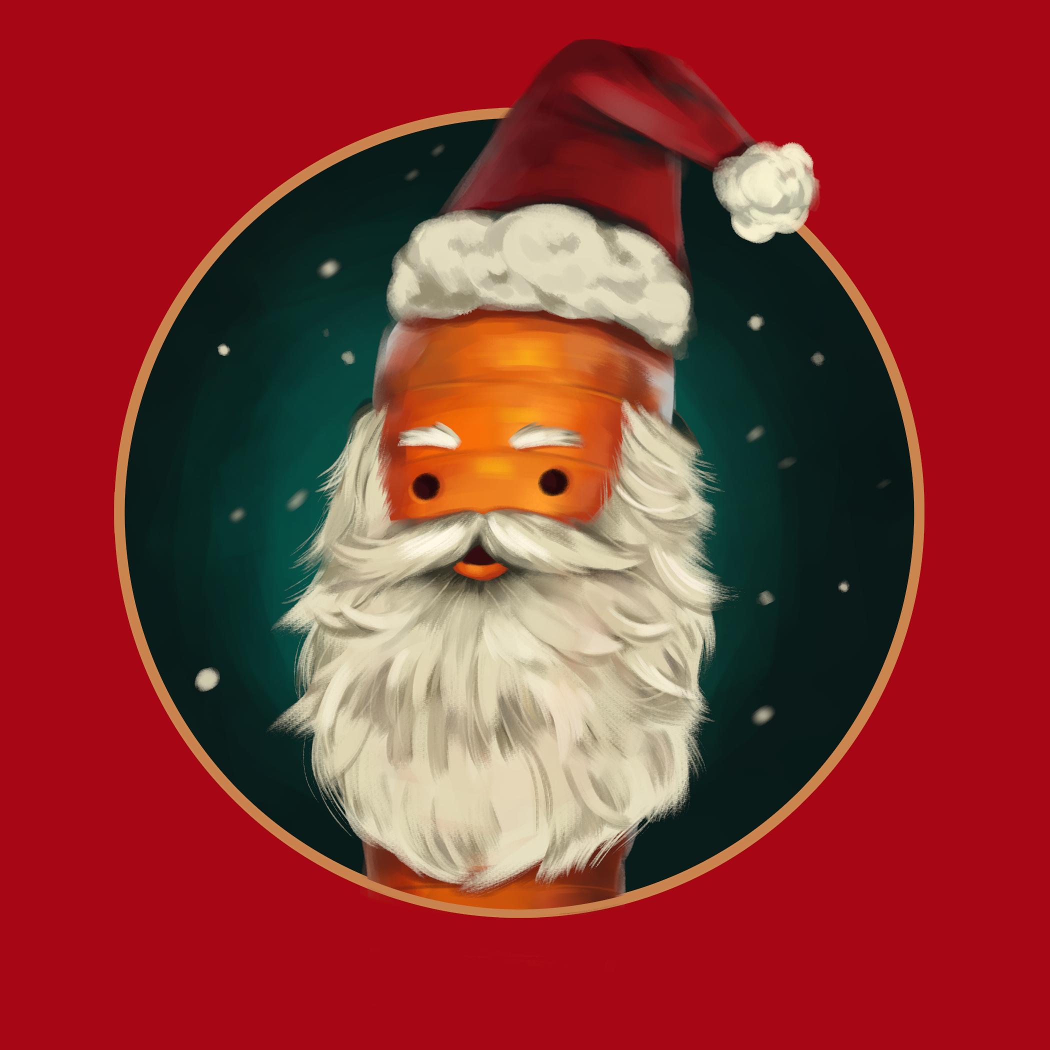 Early Kevin Santa beard design